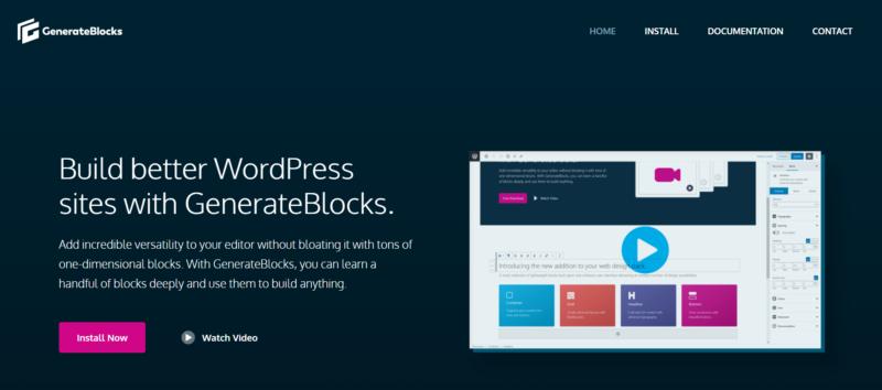 Build better WordPress sites with GeneratePress and GenerateBlocks