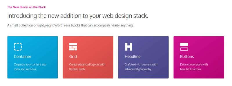 GenerateBlocks - A Collection of Lightweight WordPress Blocks
