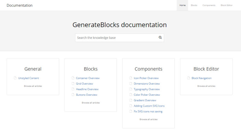 GenerateBlocks Documentation