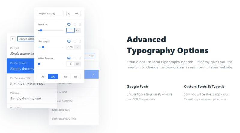 Blocksy Theme - Advanced Typography Options
