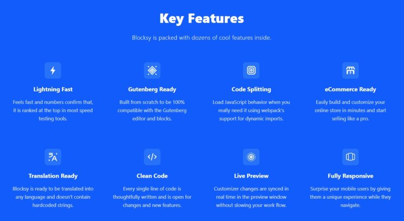 Key Features of Blocksy WordPress Theme