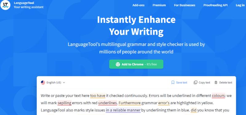LanguageTool- Suggests Improvements in Writing Style