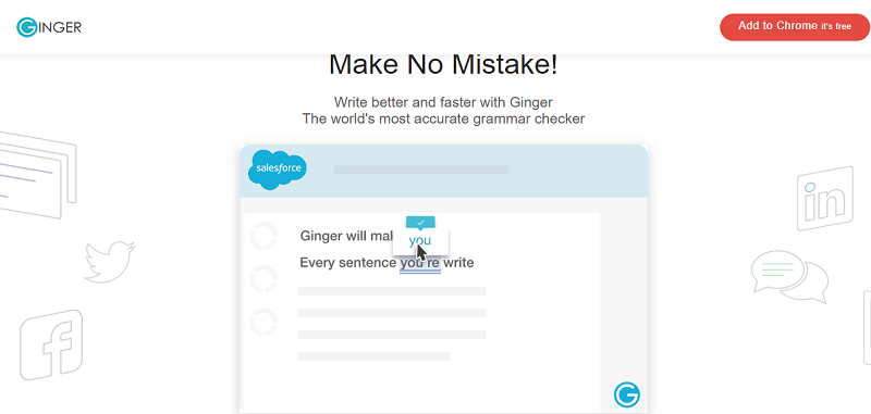 Ginger Punctuation Checker- Provides Services for Chrome, Safari
