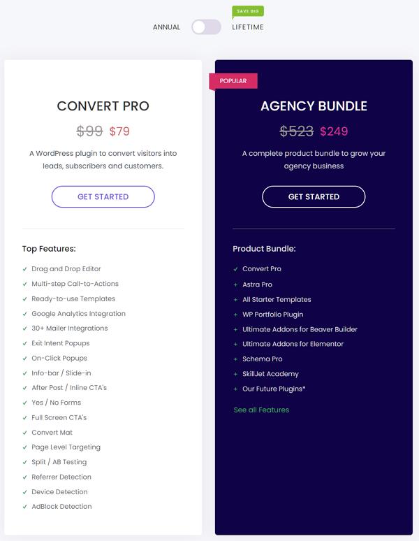 Convert Pro Pricing Plans