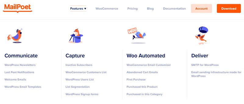 MailPoet Features